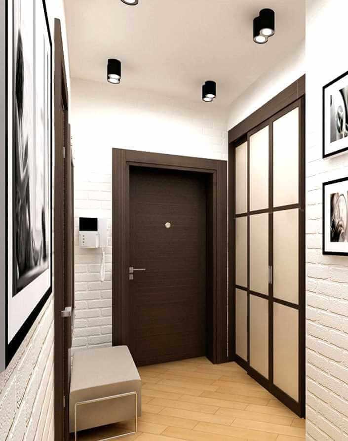 Декоративный кирпич в интерьере фото коридора