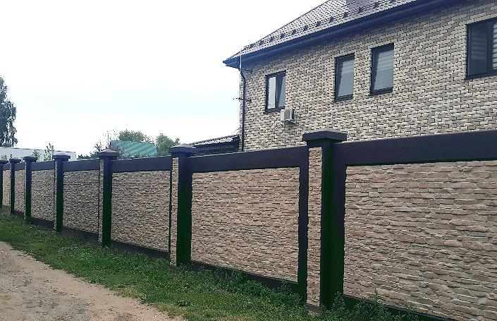 красивые бетонные заборы фото