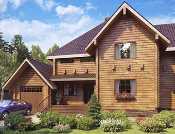 Деревянные дома под ключ из клееного бруса