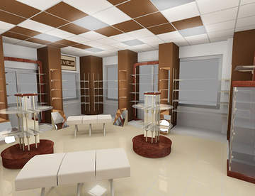 Особенности дизайна интерьера магазина