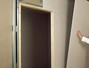 Выравнивание стен гипсокартоном без использования профиля