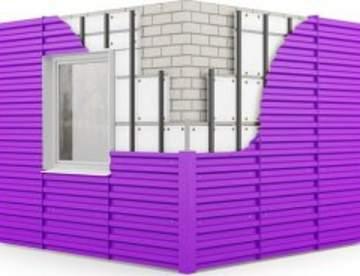 Стеновой профнастил для строительства домов и квартир