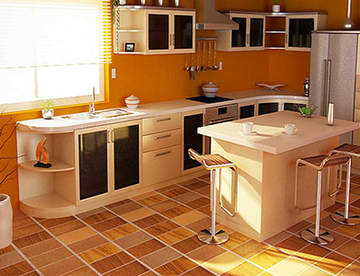 Линолеум на кухне - идеальное решение