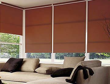 Рулонные шторы в декорировании окон