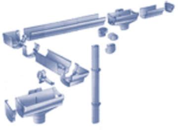 Водосточные системы из оцинкованной стали с полимерным покрытием