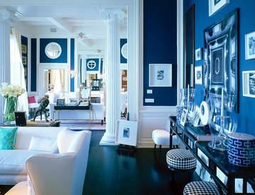 Синий цвет в интерьере имеет благоприятное психологическое воздействие