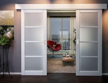 Достоинства и разновидности раздвижных дверей