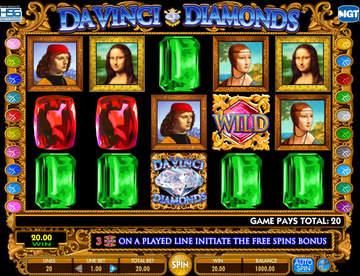 Зеркало Вулкан или где можно сыграть на игровом автомате Da Vinci Diamonds