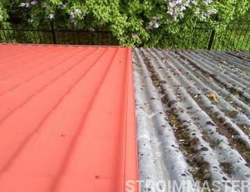 Чем покрасить шиферную крышу: технология