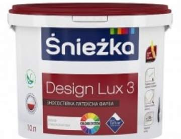 Глубоко матовая латексная интерьерная краска Sniezka DESIGN LUX 3