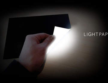 Lightpaper – тонкая светящаяся бумага