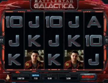Тематика игрового автомата на деньги Battlestar Galactica с сайта Вулкан